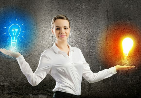 woman holding light bulbs smarter with nootropics